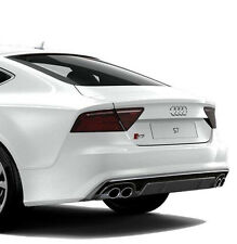 Audi S7 A7 S-Line rear diffuser spoiler rear bumper add on with Honeycomb mesh