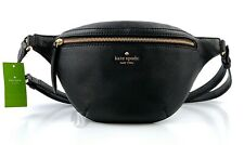 Kate Spade Jackson Belt Bag Fanny Pack Black Leather WKRU5943