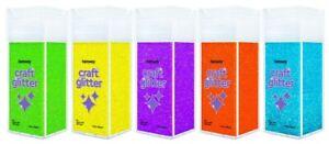 Hemway Craft Glitter Shaker FLUORESCENT UV Collection for Arts Crafts 5 x 130g