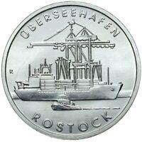 Gedenkmünze DDR - 5 Mark 1988 A - Überseehafen Rostock - Stempelglanz UNC
