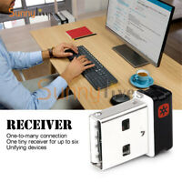Nano Receiver Dongle 6 Channel for Wireless Keyboard Mouse 2.4 GHz