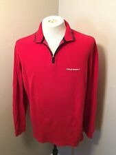 Vintage Ralph Lauren Polo Sport Half Zip Sweater Spell out Logo Sz M 90's Shirt