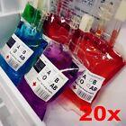 20x Clear Food Grade PVC Reusable Blood Energy Drink Bag Halloween Pouc 350ml