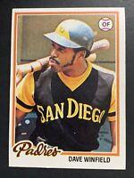 1978 Topps Dave Winfield San Diego Padres #530 Baseball Card ⚾️⚾️⚾️