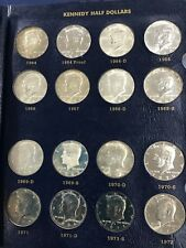 1964-1981-PDS Kennedy Half Dollar Set of 44 Coins BU Proof and Silver  E6237