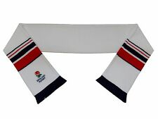England Rugby White Embroidered Scarf