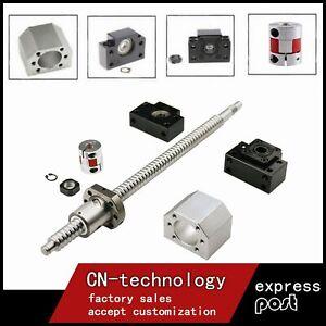 BallScrew SFU1605 End Machine 250mm-1050mm &BK/BF12 & Coupler Ball Screw CNC Set