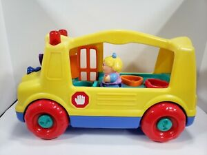 Hasbro Playskool Wheels On The Bus SCHOOLBUS 1 Fisher Price Little People TESTED