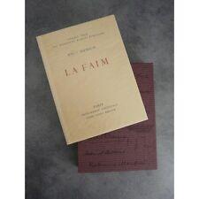 Knut Hamsun La Faim Vlaminck Imprimerie Nationale Sauret numéroté lithographie B