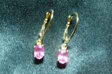 18 Carat Drop/Dangle Oval Yellow Gold Fine Gemstone Earrings