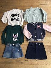 Girls 6 Clothes Bundle 8-9 ZARA top jumper denim mini skirt VGC baseball jacket