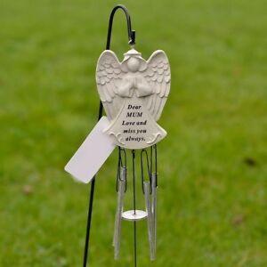 Dear Mum Guardian Angel Love & Miss You Graveside Memorial Wind Chime Tribute