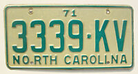 North Carolina 1971 Vintage License Plate Garage Old Car Auto Tag Man Cave Pine