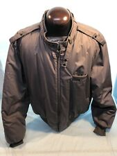 Mens MEMBERS ONLY 50/52 2XL Gray Jacket Puffer Insulated Lining