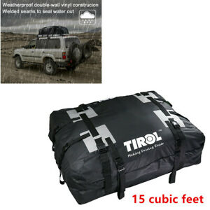 Car Rooftop Waterproof Travel Cargo Bag Organizer Carrier 15 Cubic ft Foldable