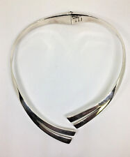 UNIQUE~VINTAGE~CHOKER~925 Sterling Silver- HINGED Collar Necklace - 93.7g
