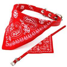 Colliers rouge pour petits chiens en tissu pour chien
