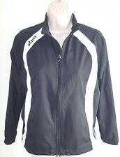 ASICS Womens Lightweight Black White Jacket, Zipper Pocket Size Large, RN# 66200