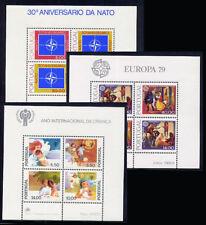 1979 Portugal Complete Year MNH. 3 Souvenir Sheets, Blocks.