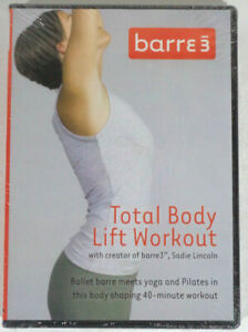 barre3 Total Body Lift Workout DVD NEW Sealed Ballet Yoga Pilates Sadie Lincoln
