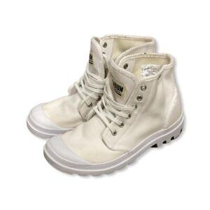 Palladium Pallabrousse Legion Star High Top Shoes White Mens 7 Womens 8.5 Boots