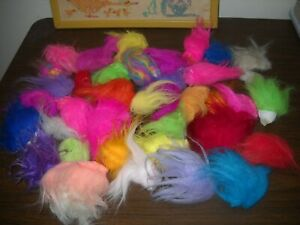 Troll Doll REPLACEMENT HAIR LOT all sizes and colors Dams, Russ, Fishing Lures