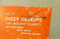 "Dizzy Gillespie And Modern Trumpets, Miles Davis, 10"" LP 1952 SIGNED AUTOGRAPH"