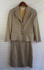 Danny Nicole Women's Size 10 Brown 2 Piece Skirt Suit Jacket Career Blazer Skirt