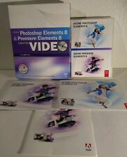 Adobe Photoshop Elements 8 and Premiere Elements 8 W/Learning Dvd.