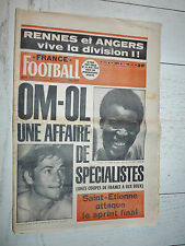 FRANCE FOOTBALL 1573 01/06 1976 COUPE 1/2 FINALES OM OL SCO ANGERS RENNES