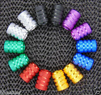 """""""CRANK CANDY"""" SCHRADER CNC Machined Valve Caps Anodized Alloy Dust Cap & O Ring"""