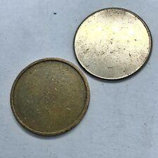 2 Blank Planchet Error World Coins Vintage Mint Mistake Unstamped Blank Token