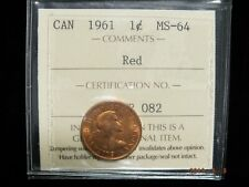 1961 - Canadian One Cent - ICCS Graded MS-64 Red