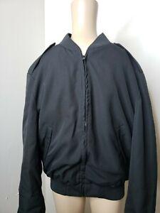 Sidran Wool Blend Men's Jacket Black With Removable Liner Size 44R Vintage Black