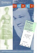 """John C. Reilly """"MARTY"""" Charles Strouse / World Premiere Musical 2002 Playbill"""