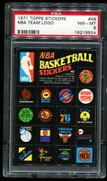 1971 Topps Stickers Basketball #46 NBA TEAM LOGOS PSA 8 NM-MT