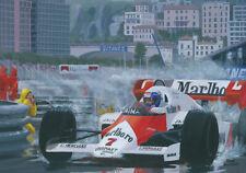 Canvas 1984 Monaco GP winner McLaren MP4-2 #7 Alain Prost by Toon Nagtegaal OE
