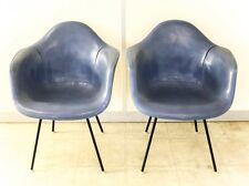 Pair Mid Century Modern Eames Era Herman Miller Fiberglass DAX Arm Chairs