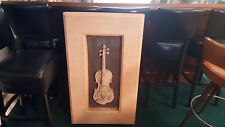 Beautiful 3D Violin Picture Large, Rare..Inside or Outside!!