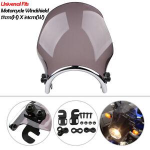 Round Motorcycle Windshield Windscreen Headlight Fairing For Honda Yamaha Suzuki