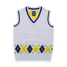 Winter Kids Boys Knitted Child Sweater Vest V Neck Sleeveless Pullover 3-8Y