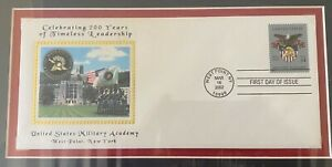 US Military Academy USMA West Point First Day Cover 34 cent Stamp 2002 framed