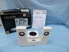 Logic 3 i-Station IP106 White Portable Speaker System Dock iPod 4G Mini Photo