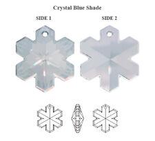 Swarovski 6704 Snowflake Pendant Crystal Blue Shade 20mm