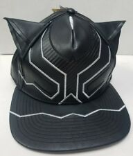 Marvel Comics BLACK PANTHER Suit Up Leather SnapBack Hat. NWT One Size Fits most