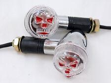 Chrome Bullet Skull Turn Signals for Harley Softail Dyna Sportster Victory V-Rod