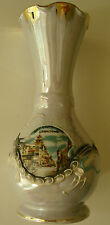 """Vintage Chinese Art Pottery Vase w/ High Relief Dragon Over SF China Town 6 1/4"""""""