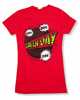 Green Day Power Up Tour Girls Juniors Red T Shirt New Official Band Merch
