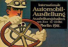 POSTER ARTISTICO INTERNAZIONALE AUTOMOBILE Belin 1911 CAR SHOW stampa