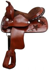 """12"""" Pony saddle with silver laced cantle."""